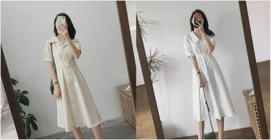 夏日连衣裙不失足的穿搭范本推荐,温婉又显气质,让你桃花滚滚来