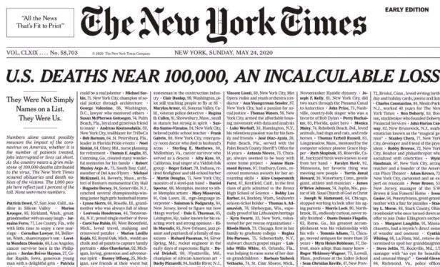 死亡近10万,特朗普连续两天打高尔夫,《纽约时报