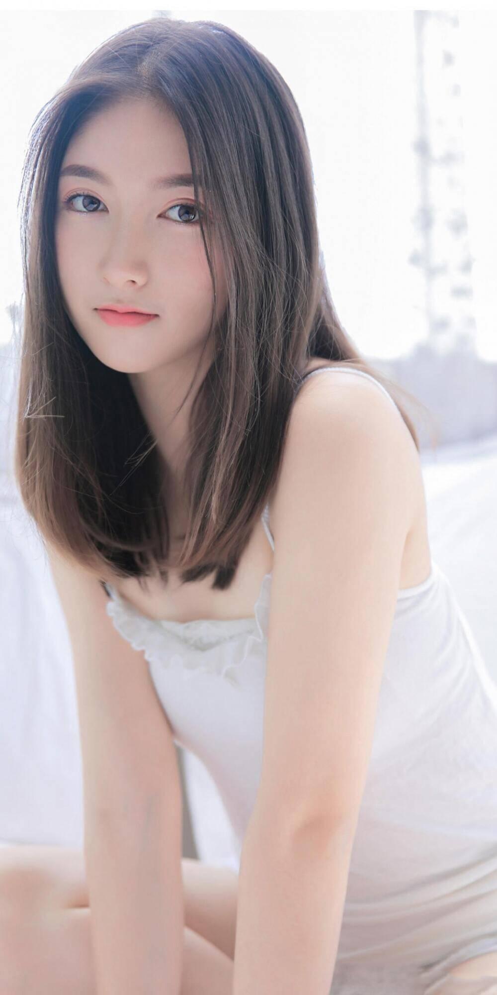 清纯美少女写真集,长发美女俏丽养眼写真