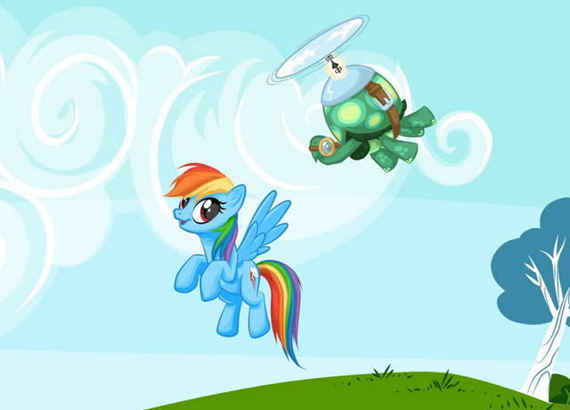 原创 小马宝莉:小马宠物很异类,会飞乌龟,爱甜食鳄鱼,大公主的凤凰