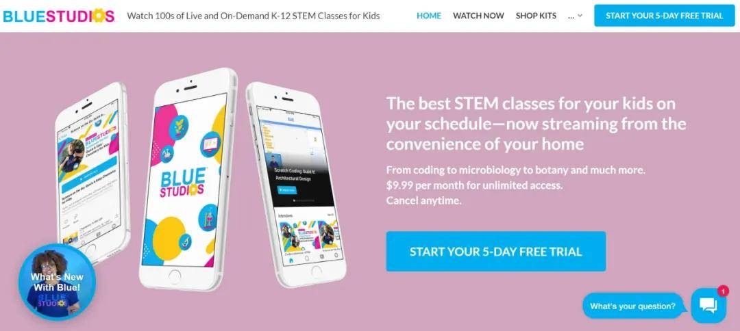 美国STEM教育平台BlueStudios获得GMC领投的种子基金