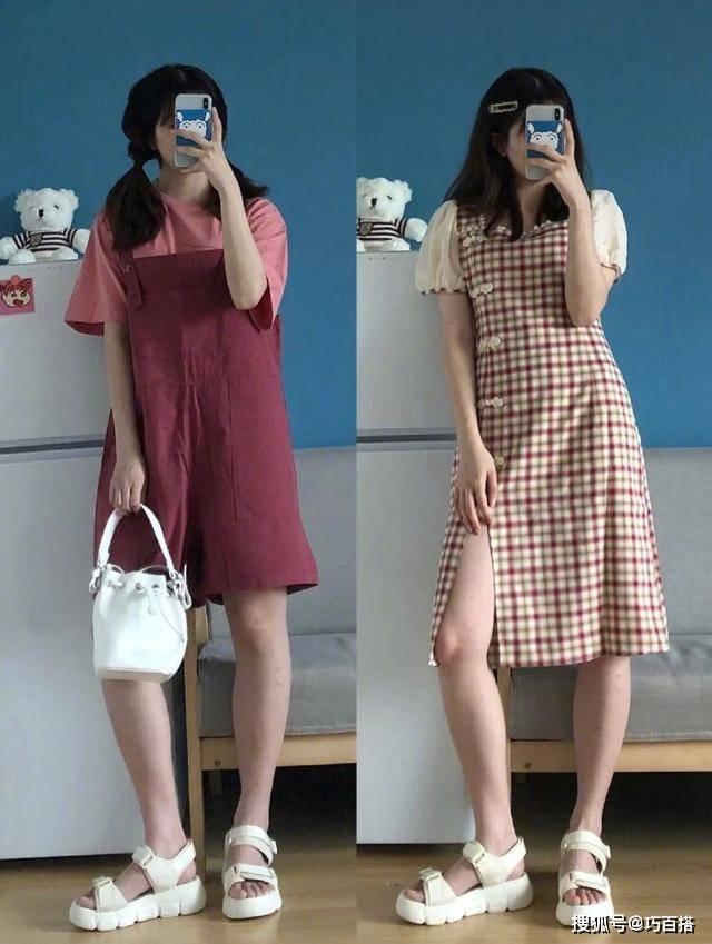 原创             连衣裙的搭配范本!让胖女孩显瘦让小个子显高,时髦气质范儿