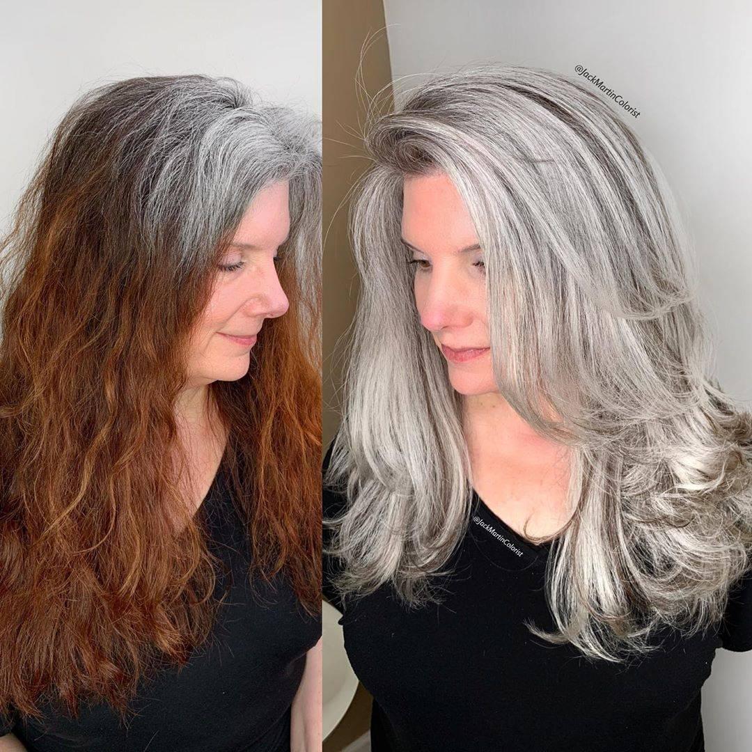 看完今天分享的文章,我们会发现中老年女性有白头发染灰色系染发会更