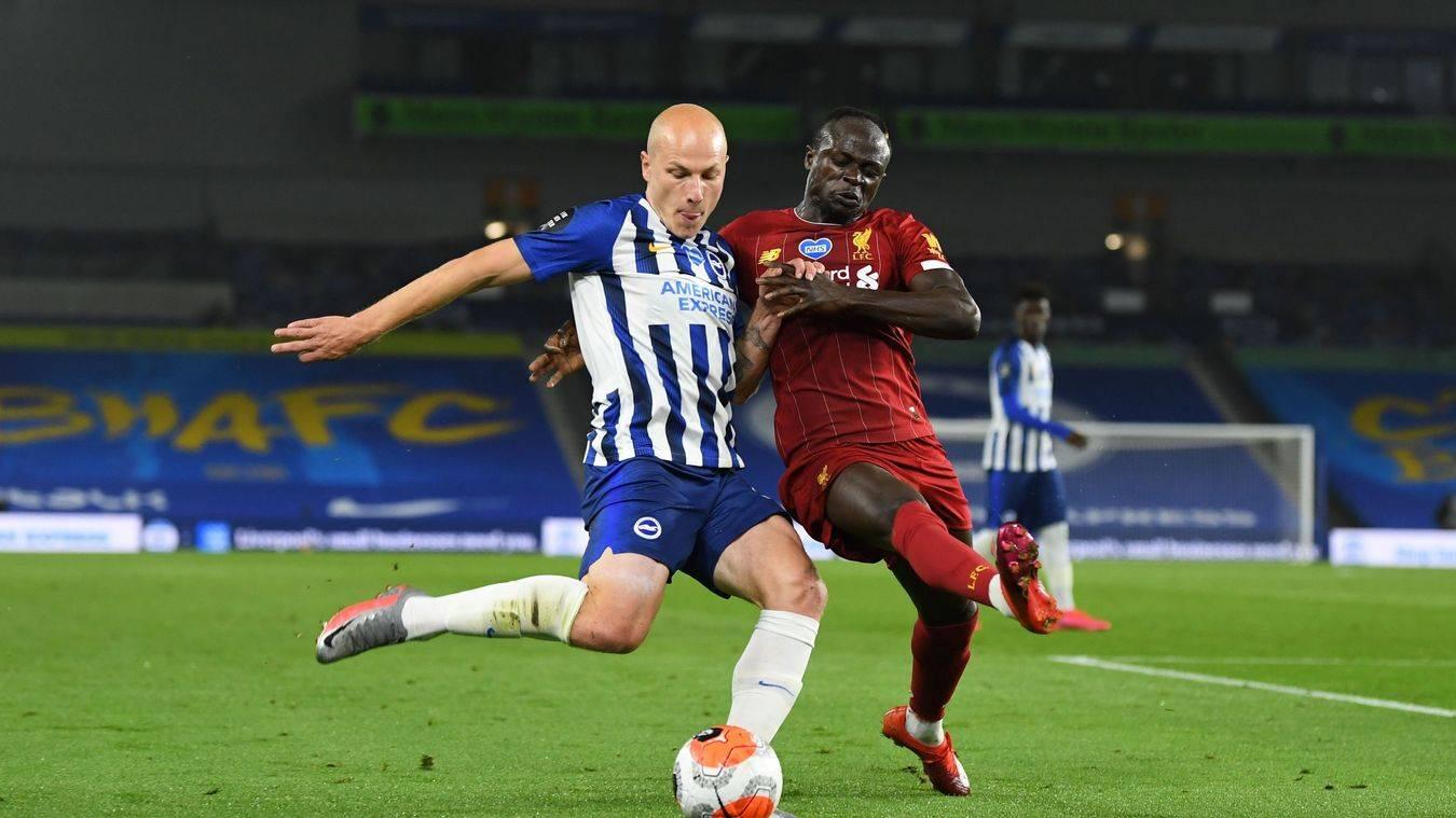 英超-萨拉赫2射1传亨德森世界波 利物浦3-1布莱顿