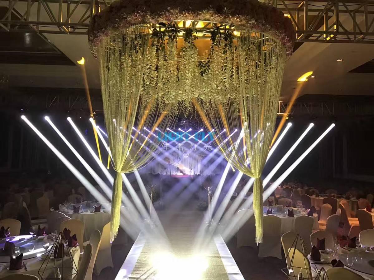 世纪大旅店宴会厅灯光现场案例灯光效果