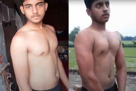 小伙每天做100个俯卧撑、50个卷腹,坚持1个月,健身效果怎么样?