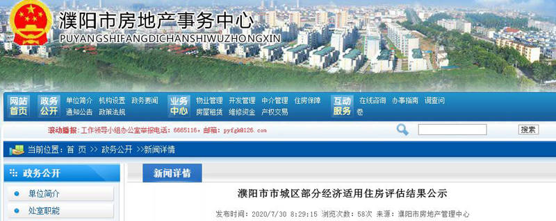 关注!濮阳7个经济适用住房上市指导价来了!你会买吗?