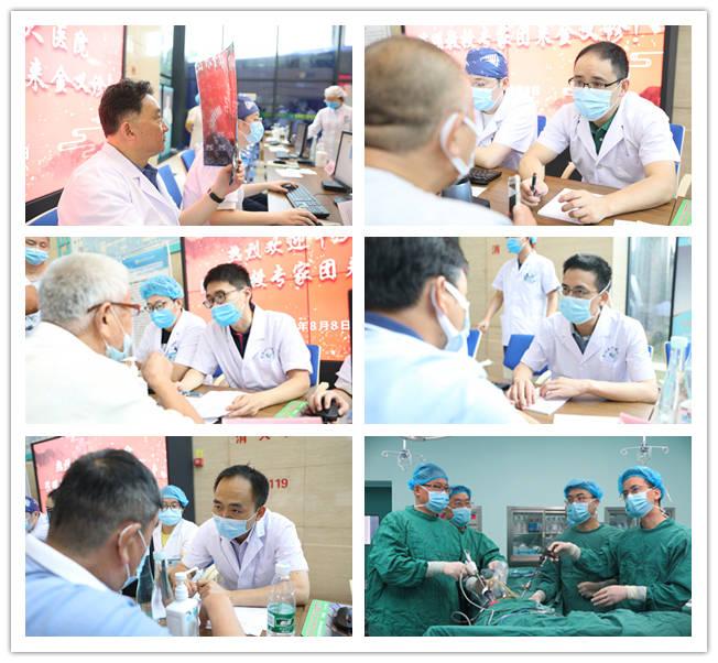 金湖县人民医院院长万长春迎接中大医院
