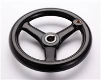 机械手轮广泛应用于机械零部件工业的各个领域 圆轮缘手轮零件图