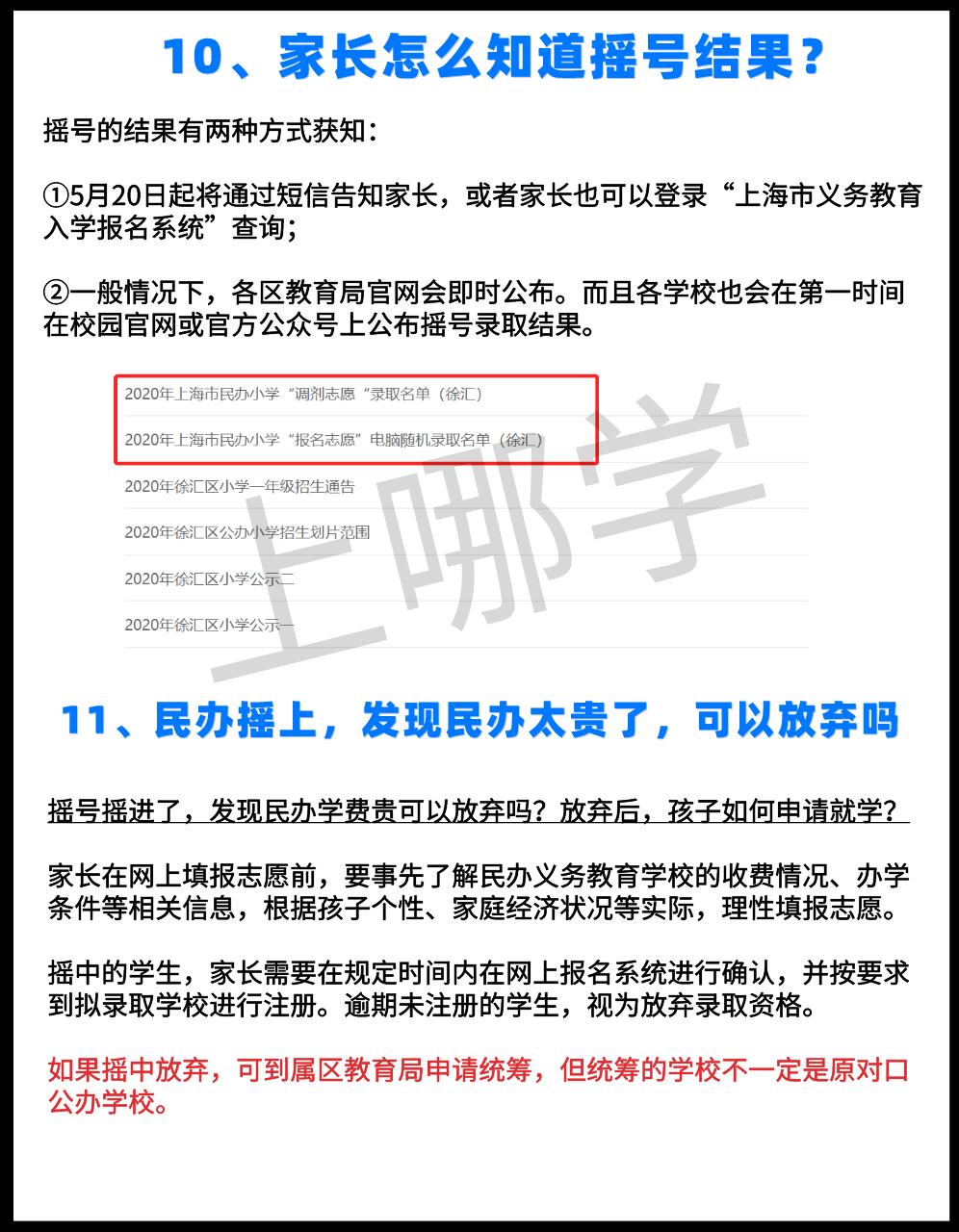 重磅!上海第一年民办超额摇号录取现状,这15个关键问题一定要知道!