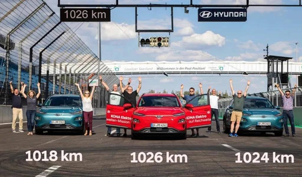 韩系电动车的实力:KONA EV创记录,实测续航超1000公里