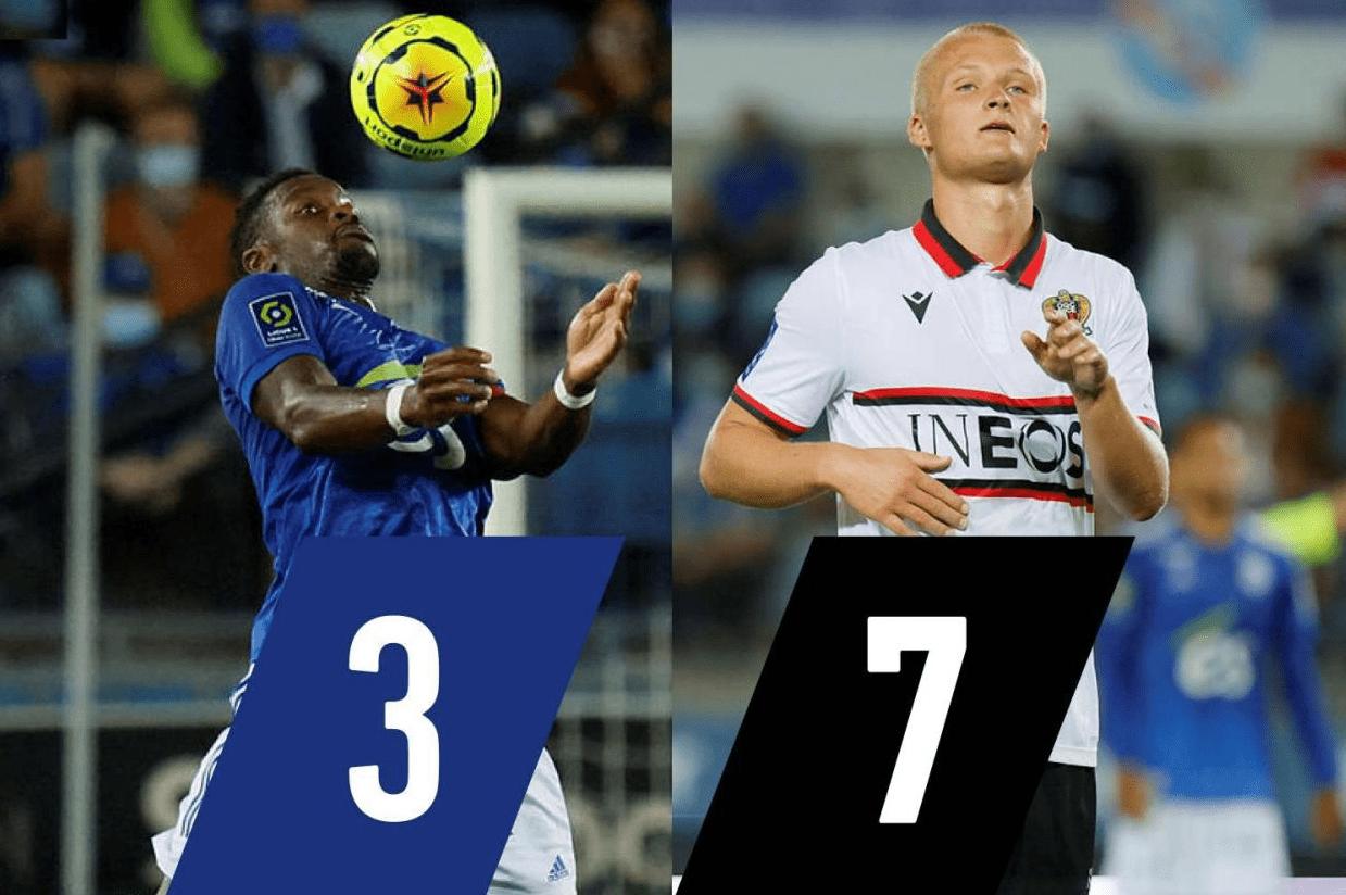 法甲-雷恩2-1力克蒙彼利埃 斯特拉斯堡主场0-2尼斯