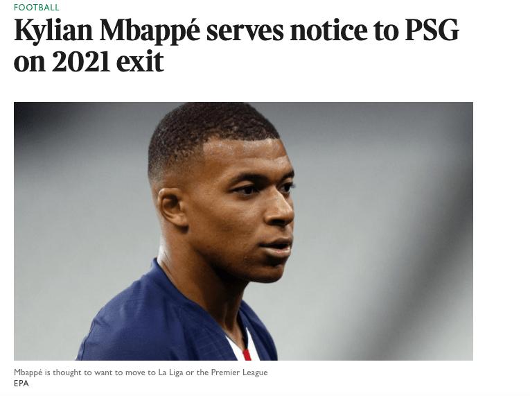 看看里面世界?曝姆巴佩已告诉巴黎赛季停止分开,一队最想签下他