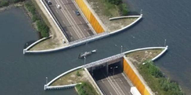 """荷兰一座神奇的""""断桥"""",斥资800亿打造"""