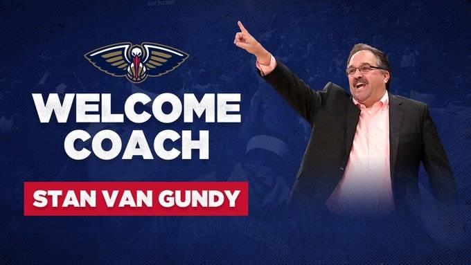 鹈鹕官宣:斯坦-范-甘迪正式成为球队新任主帅