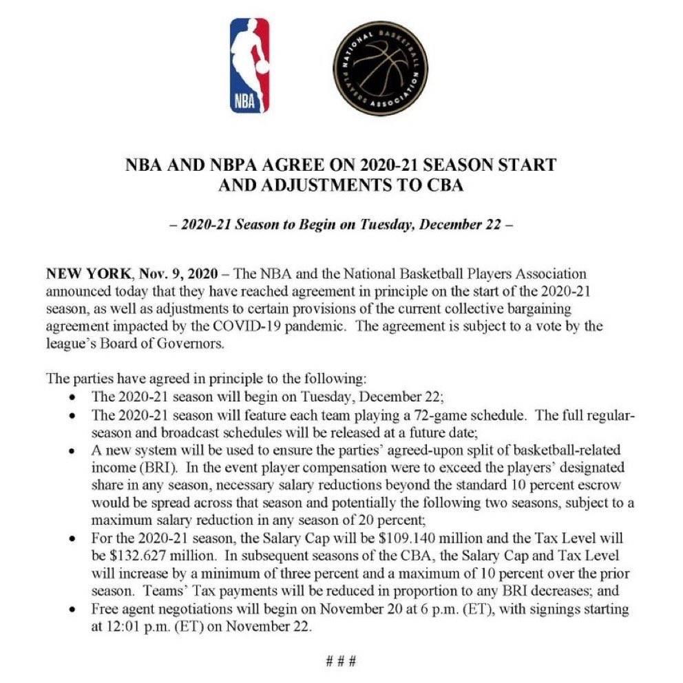 NBA董事会正式通过修订版的劳资协议