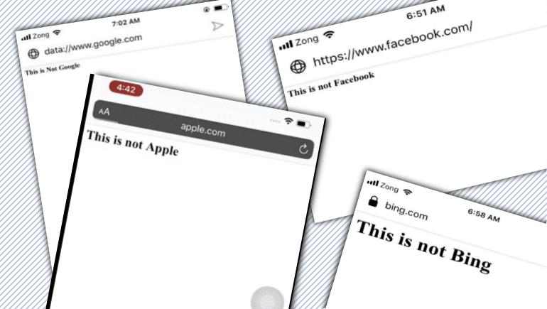 七个易受地址栏欺骗攻击的移动浏览器