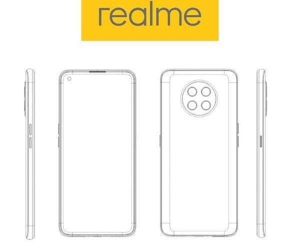 realme手机全新专利设计图曝光 圆形后摄模块与现有机型完全不同