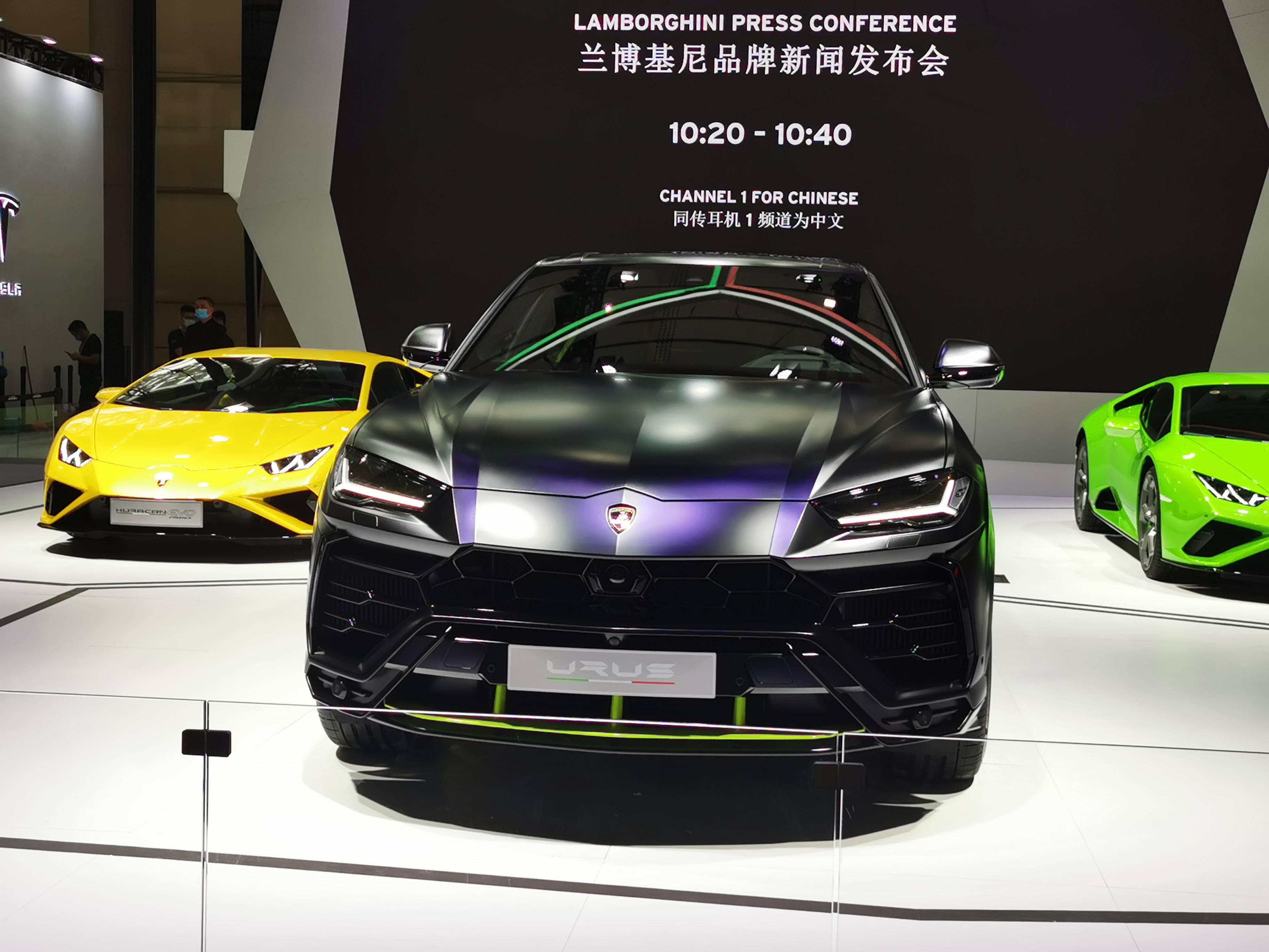 2020广州车展兰博基尼Urus哑光漆特别版等车型亮相