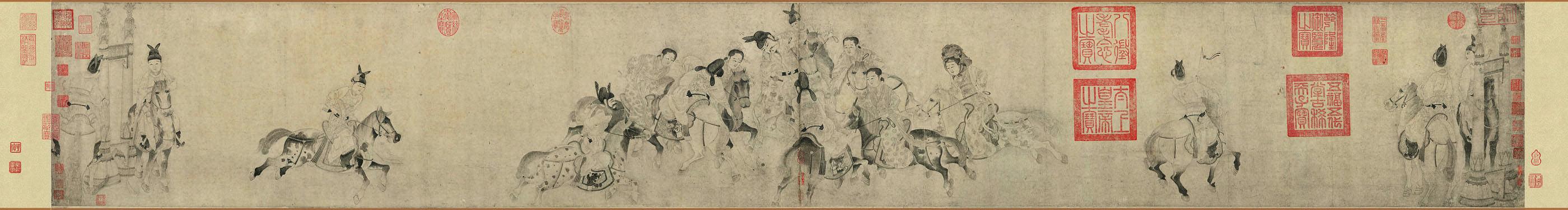 中国传世名画◆长卷‖李公麟(传)《明皇击球图卷》|欧洲杯足彩