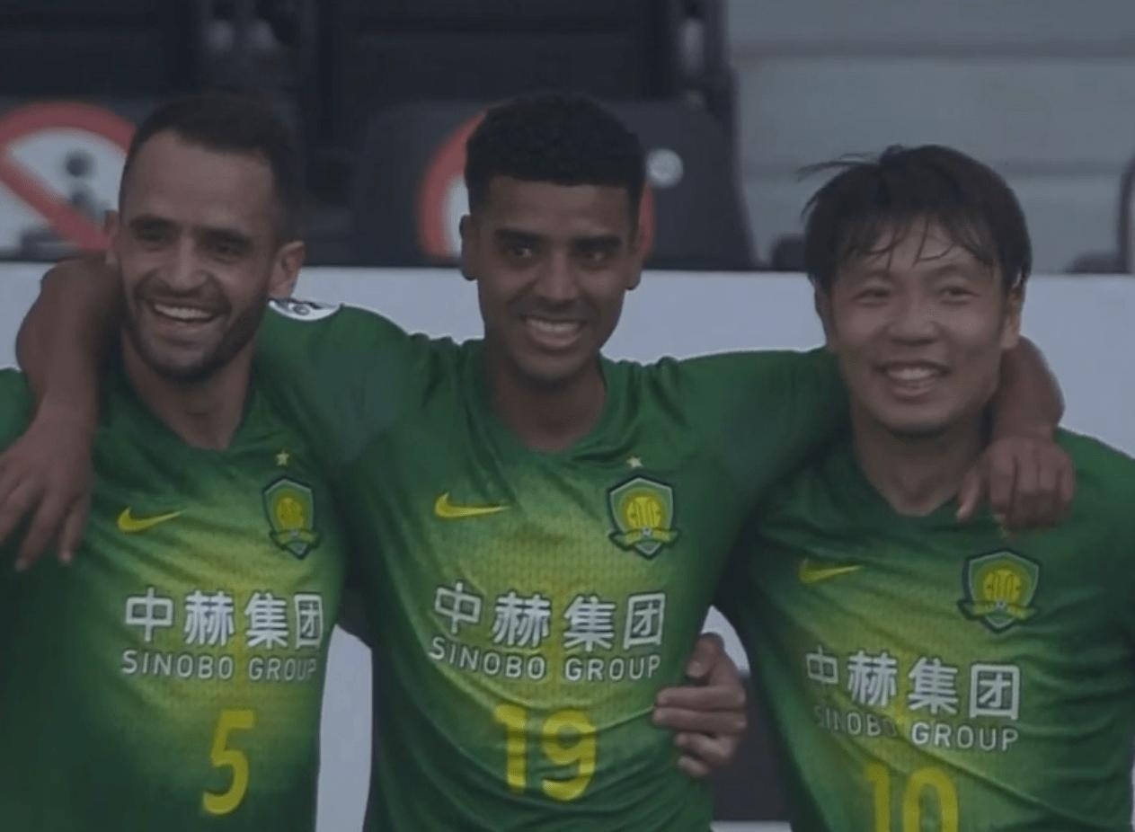 亚冠E组第3轮,北京国安3-1击败墨尔本成功