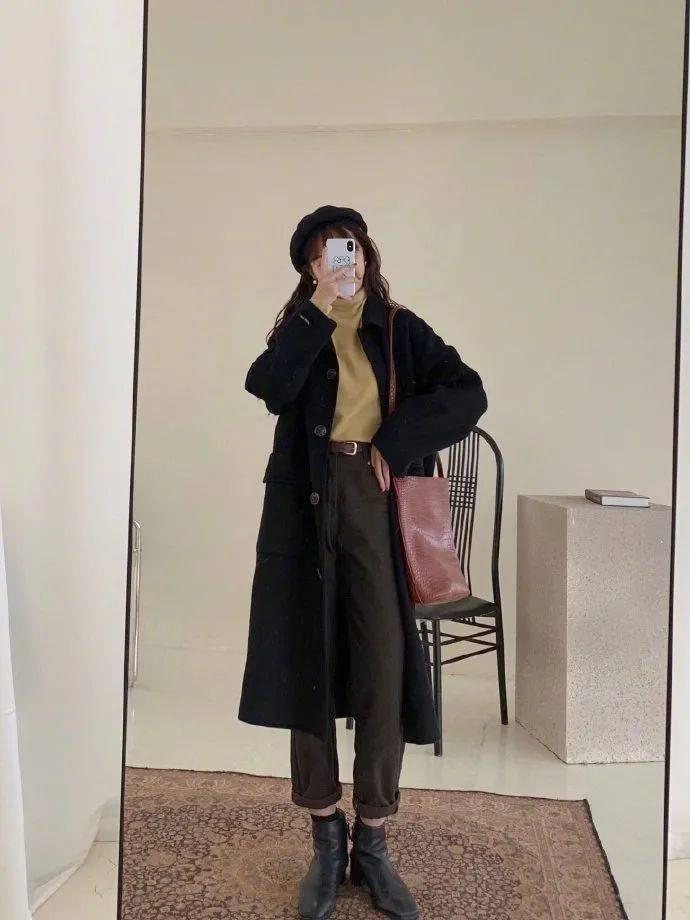 一件原创外套可以穿多种款式!推荐7种冬季必备黑色外套的穿着风格