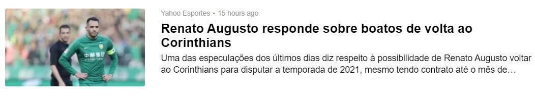 据yahoo体育巴西版报道,国安外援奥古斯托在