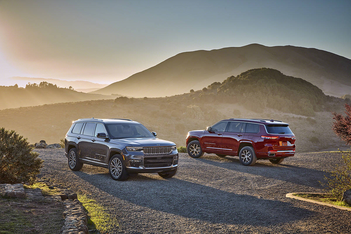 大6座三排SUV也擅长越野吉普。新的大切诺基L官方地图发布