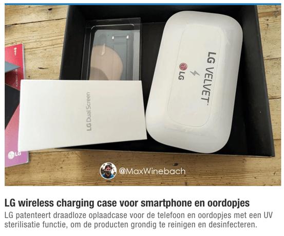 原创             LG或推出内置手机无线充电器的紫外线消毒器