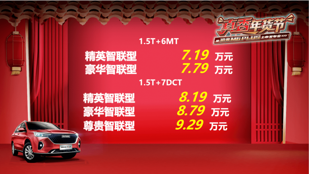 价格亲民还有不错的质感,哈弗M6 PLUS仅售7.19万起