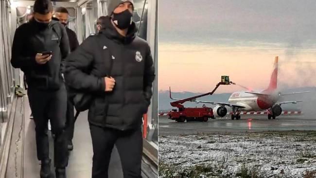 皇马被困机场4小时 马竞对手航班难落地