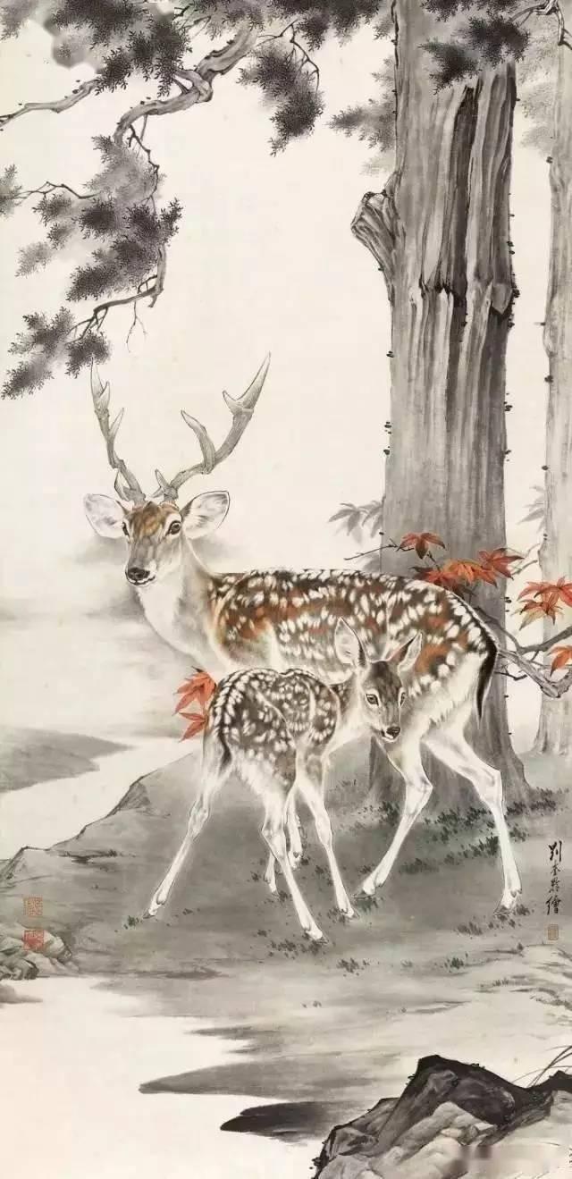 刘大师的老爷子,刘奎龄的动物工笔画,厉害了