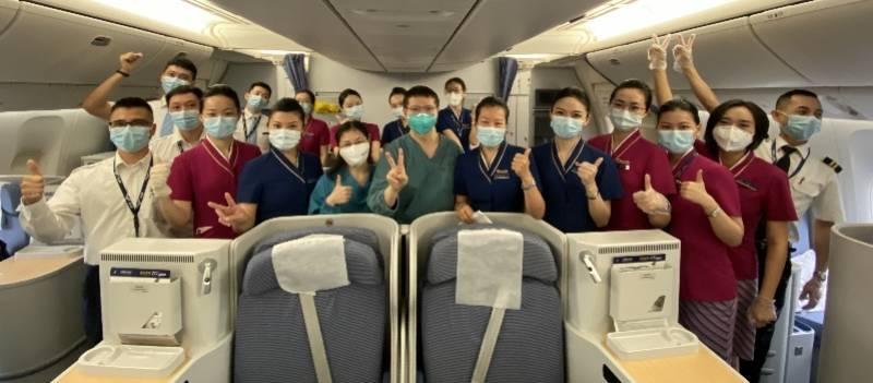 中国民航总局的部署安排,广州医护为其测量了5次体温