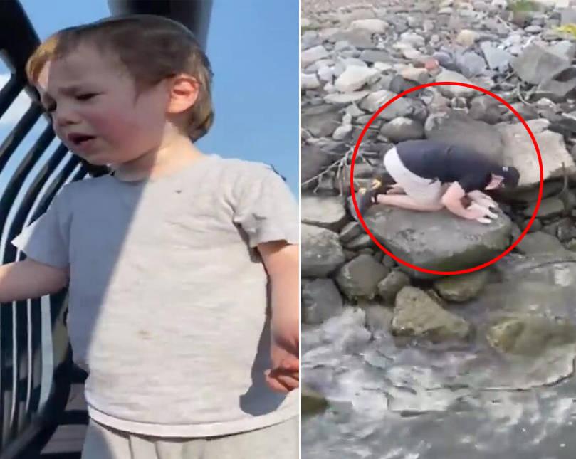 男童因玩偶掉进河中崩溃大哭 路人捞出玩偶进行心肺复