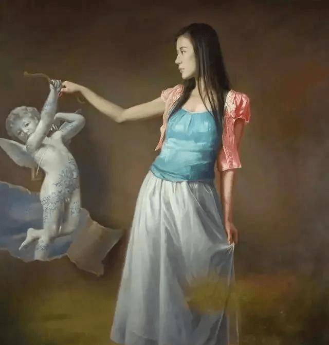 人体艺术:年轻艺术家笔下的那些绝美女子,怎样用油画画出中国女人的美