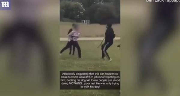 英国发生触目惊心一幕:女子朝亚裔吐口水,猛踢宠物狗