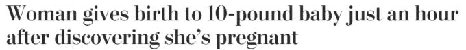 Omg,厕所尖叫!加拿大嫩模不知自己怀孕,蹲坑顺带生了个娃!