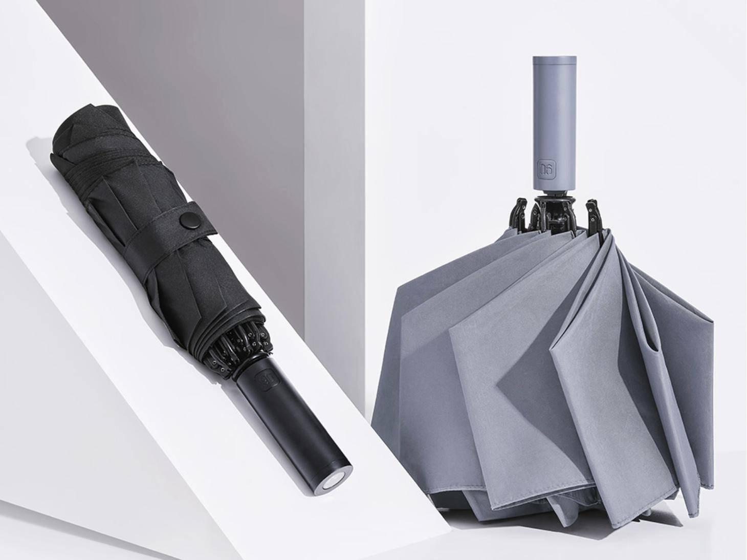 小米有品众筹自动反向折叠伞:晴雨两用+配备照明灯