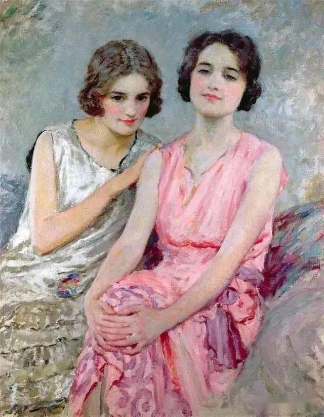 油画艺术:英国画家马格森笔下的,那些优雅知性的美丽女人们