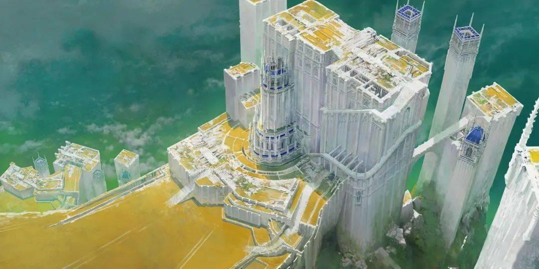 """这个""""潜水""""CG艺术家画的大场景仿佛宫崎骏动画里的大建筑!简直绝美!"""