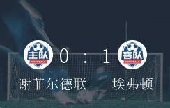 埃弗顿1-0打败谢菲尔德联