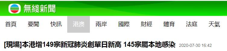 孕前保健香港新增149例新冠肺炎确诊病例
