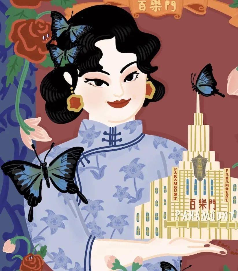 上海|插画师眼中的上海:将大家带回到那个电影的传奇年代