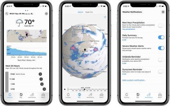 苹果收购的Dark Sky应用安卓版已经停止服务