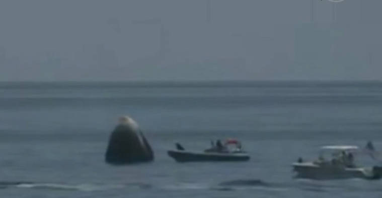 "SpaceX载人飞船返程 马斯克全程""祈祷"""