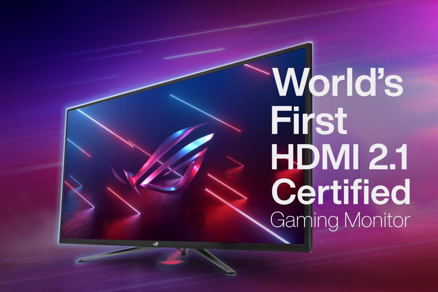 华硕ROG将发布全球首款HDMI 2.1认证的电竞显示器