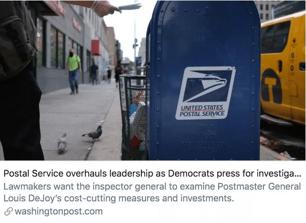 """重组 共和党""""粉丝""""重组美国邮政局,或影响2020年大选结果?"""
