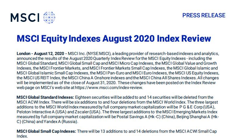 """外资又有大动作!5000亿芯片股纳入指数,这些股票也被MSCI""""看中""""!盯紧8月最后一天,套利机会又来了?"""