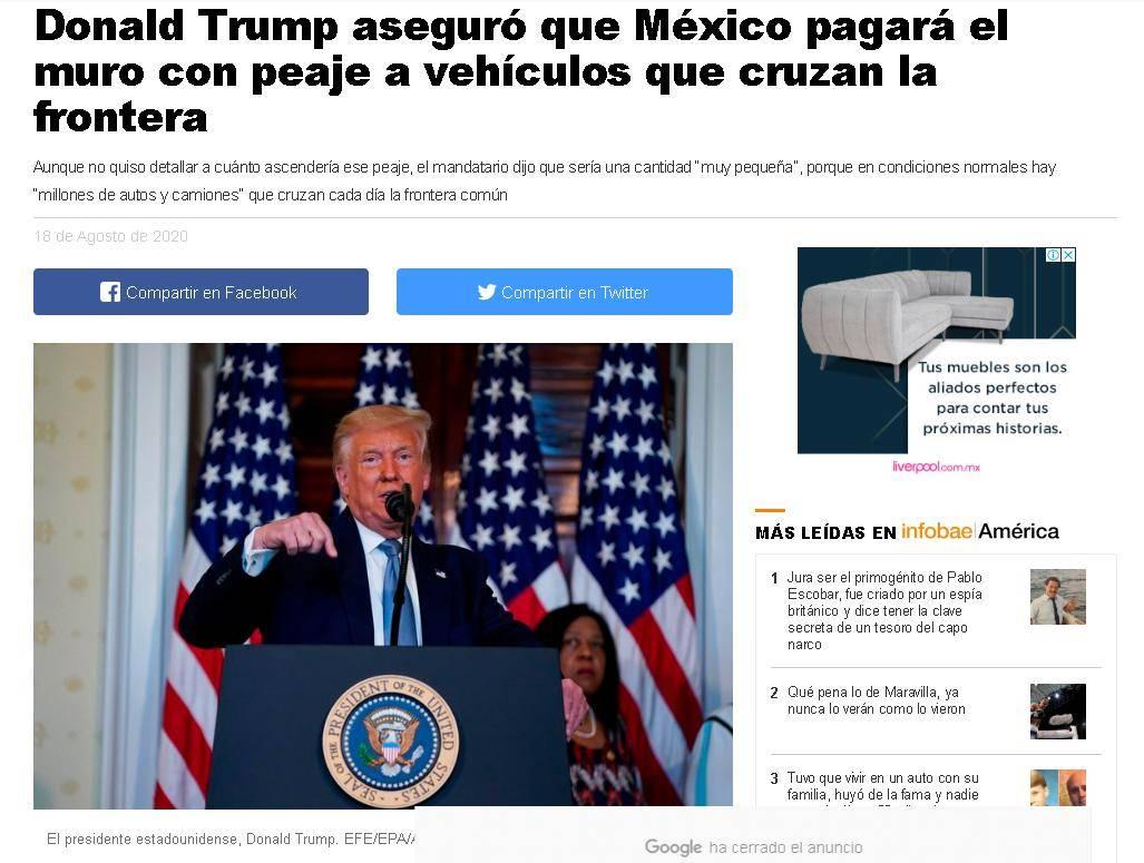 特朗普再出新招 墨西哥入境美国车辆要付入境费