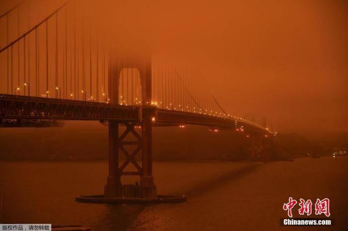 美国山火肆虐已致33人死 洛杉矶遇26年来